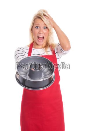 woman overworked amazed wonder bake cake