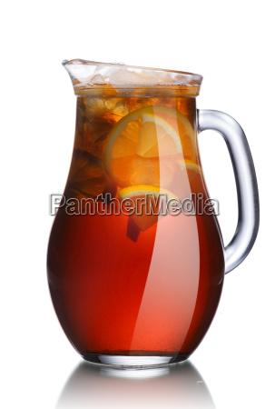 jug of lemon iced tea