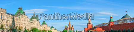 moscow kremlin and red square panorama