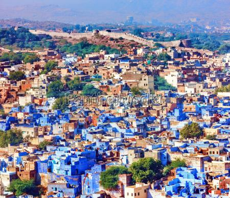 jodhpur die blaue stadt rajasthan indien