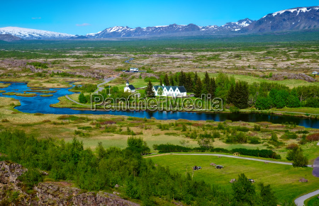 landschaft im thingvellir nationalpark in island