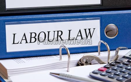 labour law blue binder in