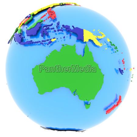 australien auf der erde