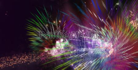 feuerwerk farben lichter