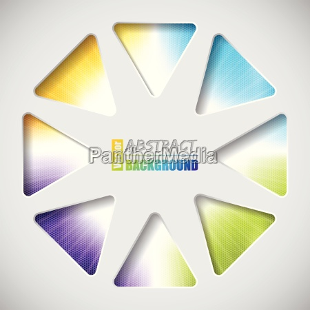 abstract design with triangles and hexagon