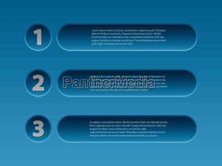 simplistic 3d infographic design in blue