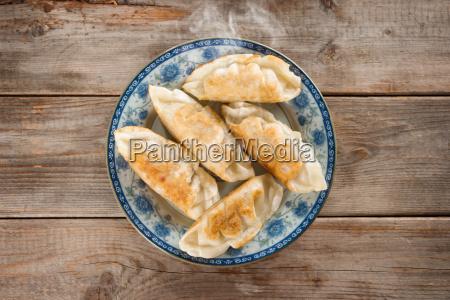 asian appetizer pan fried dumplings