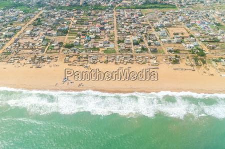 luftfoto af kysten af u200bu200bcotonou benin