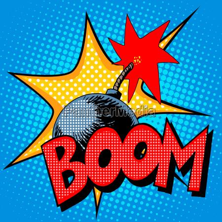 boombombe sprengen comic stil