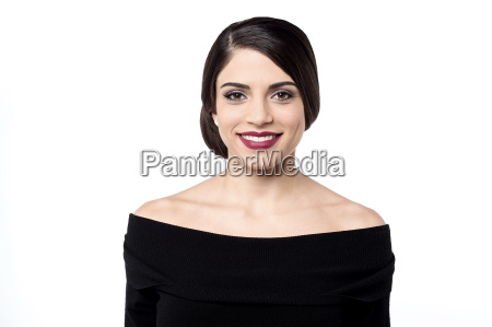 charming young lady in party wear