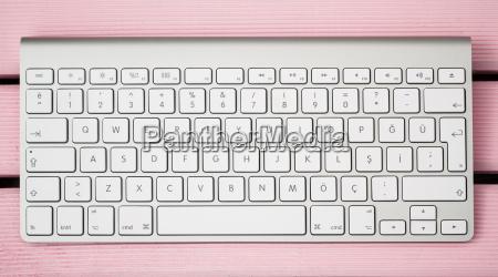 drahtlose moderne computer tastatur mit der