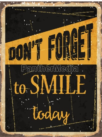 retro metal sign dont forget to