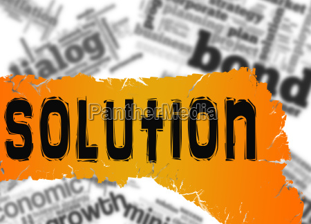 word cloud with solution word on