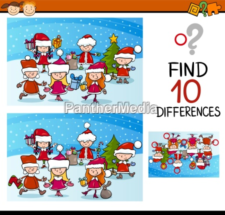 xmas differences task for kids