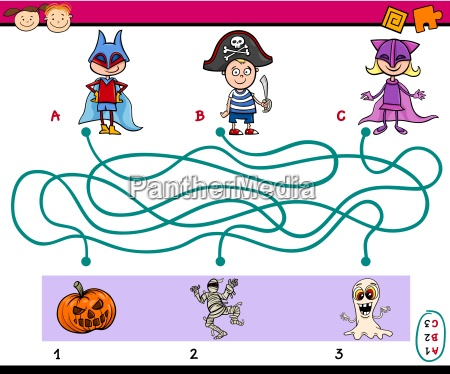 paths puzzle task for kids