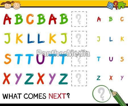 kindergarten educational pattern task