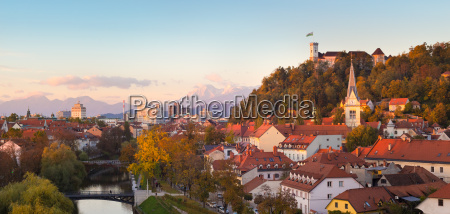 panorama of ljubljana slovenia europe