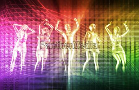 disco techno party hintergrund