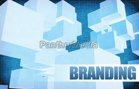 branding on futuristic abstract