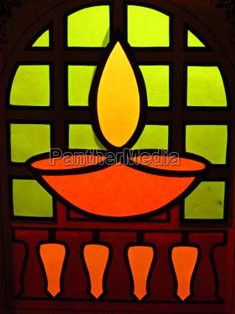 traditional diwali lamp design