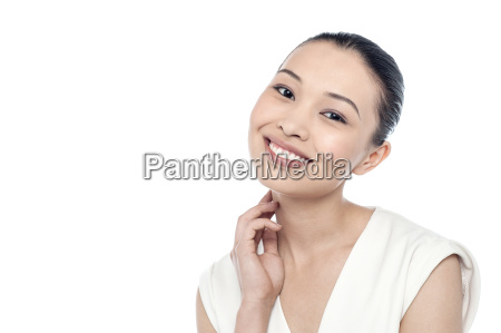 woman in fresh look with glowing