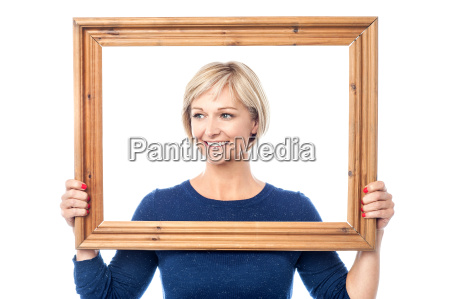 woman looking away from behind a