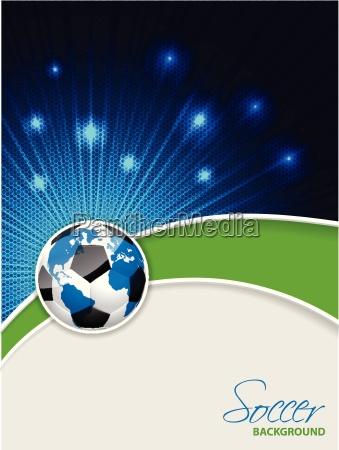 abstrakte fussball broschuere mit platzen karte