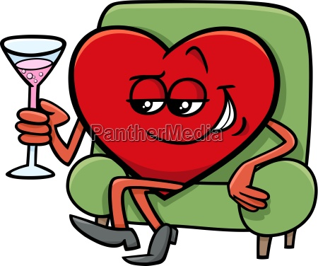 valentine heart cartoon character