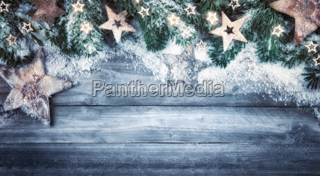 christmas background naturein blue gray