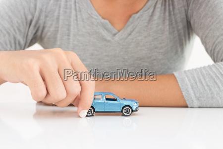 frauen modell auto leasing geschaeft konzept