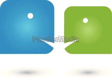 two persons logopeoplecommunication