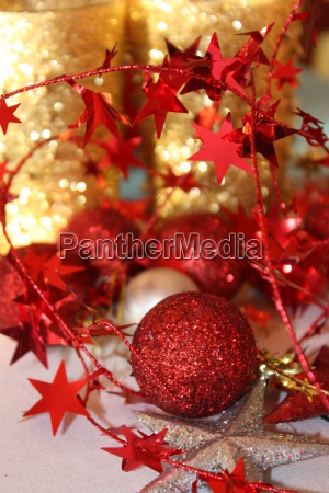 weihnachten rot golden glitzern dekoration