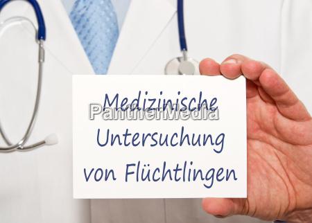 medizinische untersuchung von fluechtlingen