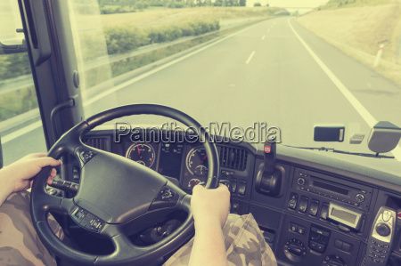 truck driving instagram effect