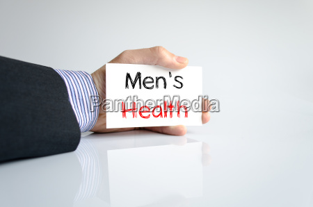 mens health text concept