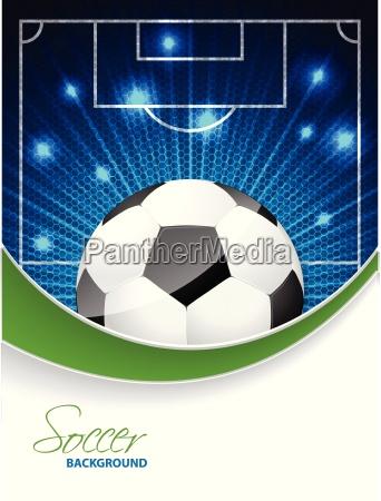 abstrakte fussball broschuere mit voller kugel