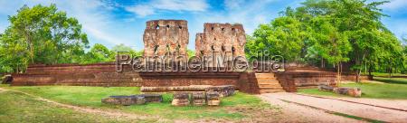royal palace of king parakramabahu panorama