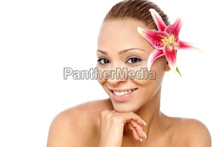beautiful spa woman with glowing skin