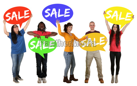 sale offer shopping sale group of