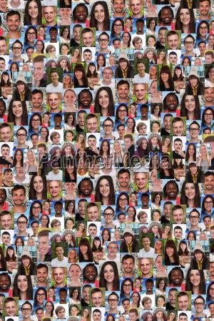 hintergrund junge menschen gruppe soziale netzwerke