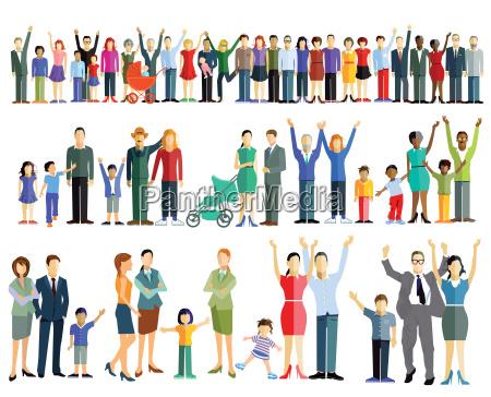 menschenmenge und personengruppen