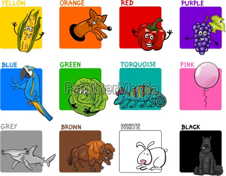 main colors cartoon collection