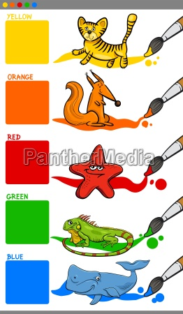 main colors with cartoon animals