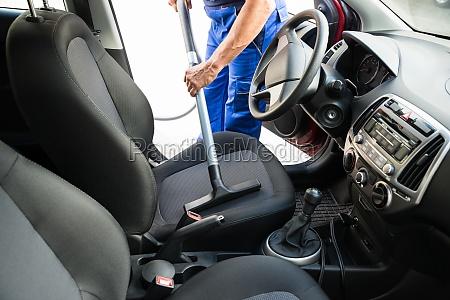 mann vakuumiger auto seat mit vakuum