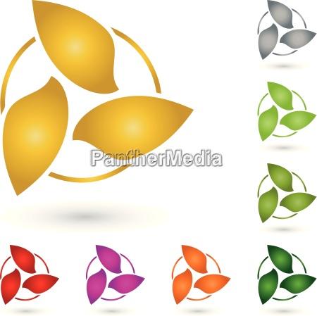 drei blaetter logo wappen gaertner