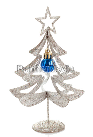 christmas decoration silver tree