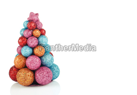 christmas background with colorful tree