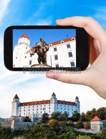 schnappschuss der statue in bratislava hrad