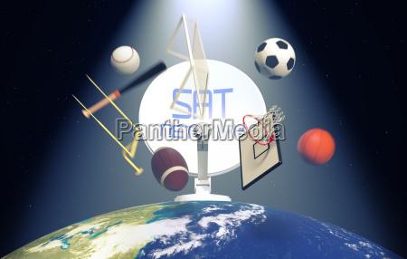 konzept der sport sendung worldwide elemente