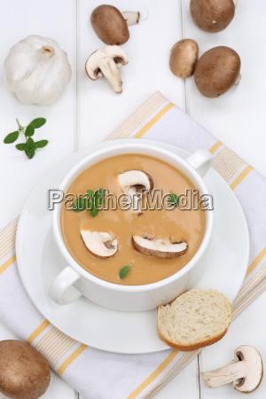 pilzsuppe pilz champignon pilze suppe